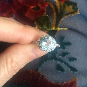 Jewelry - FINAL PRICE— Gold, blue topaz and diamond ring